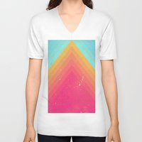 pyramid V-neck T-shirts featuring Pyramid by OEVB