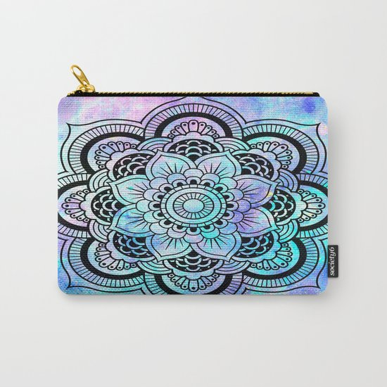 mandala pink lavender aqua galaxy space Carry-All Pouch