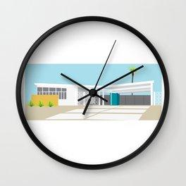 mid-century modern house four Wall Clock
