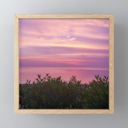 Purple Sunset Beach Framed Mini Art Print