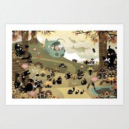 The Octonauts Sea of Shade Art Print