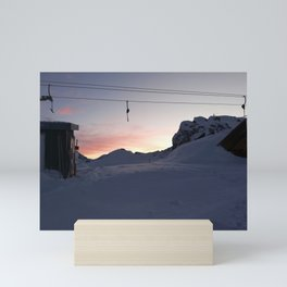 New day about to start at mountains Mini Art Print