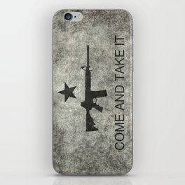 Come and Take it Flag with AR-15 iPhone Skin