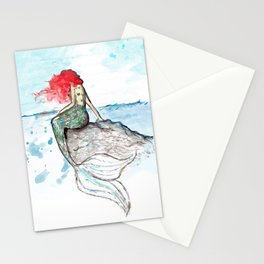 Mermaid - watercolor version Stationery Cards