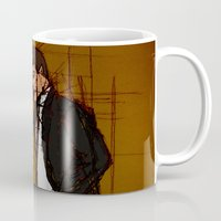 mulder Mugs featuring there's something out there, mulder by Melvin Pena