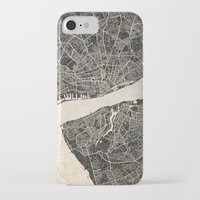 liverpool iPhone & iPod Cases featuring liverpool map ink lines by NJ-Illustrations