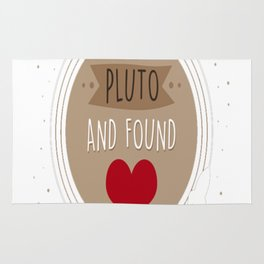 I Flew to Pluto and found love Rug