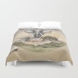 Elephant tea time Duvet Cover