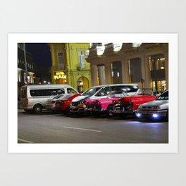 Cars in Old Havana Art Print