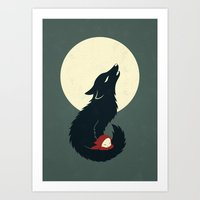 red riding hood Art Prints featuring Little Red Riding Hood by Freeminds