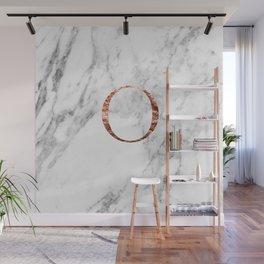 Monogram rose gold marble O Wall Mural