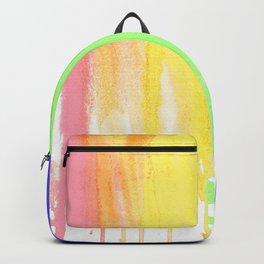 Rainbow Watercolor Drip Backpack