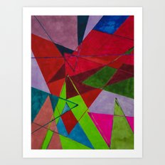 Overlapping Art Print