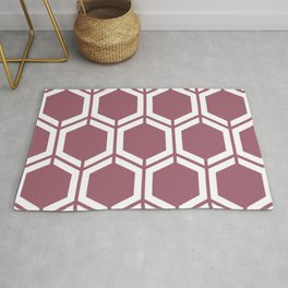 Rose Dust - violet - Geometric Polygon Pattern Rug