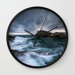 Sea and Clouds Wall Clock