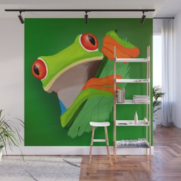 Red-eyed tree frog Wall Mural