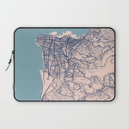 Beirut - Lebanon Breezy City Map Laptop Sleeve