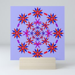 Shuriken Lotus Flower v3 Mini Art Print