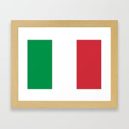 National Flag of Italy, High Quality Image Framed Art Print
