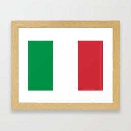 National Flag of Italy, High Quality Image Framed Art Print