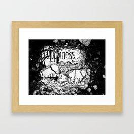 Broken Dreams in Black and White Framed Art Print