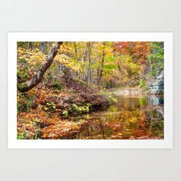 Dogwood Canyon Nature Park Autumn Landscape - Ozark Mountains Art Print