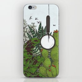 emptiness and magnifying glass iPhone Skin