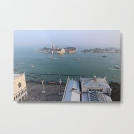 Entrance to St Marks Square, Venice, Italy Metal Print
