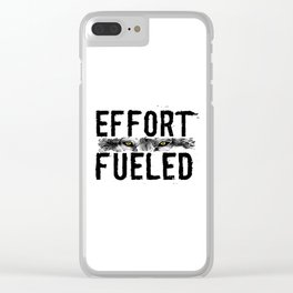 Effort Fueled Motivatonl Quote Wolf Art Clear iPhone Case
