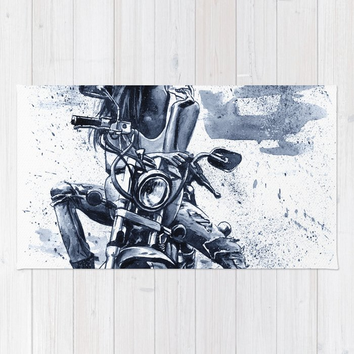 Biker Girl Rug