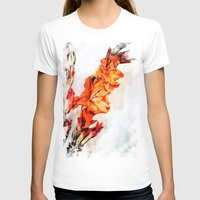 artsy T-shirts featuring gladioli Artsy by Artsy Arts By Rosanna.