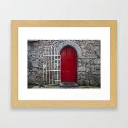 Red Door Galway, Ireland Framed Art Print