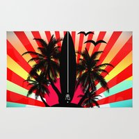 surf Area & Throw Rugs featuring Surf by mark ashkenazi