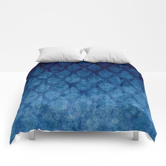Blue texture Comforters