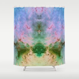 Pastel Space Shower Curtain