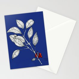 lomboy blue Stationery Cards