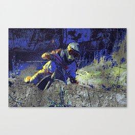Trail Blazer Motocross Rider Canvas Print