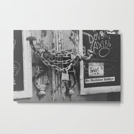 The Chain and The Door Metal Print