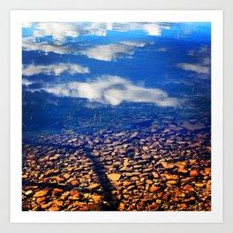 Sky Pebbles Art Print