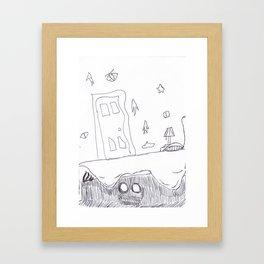 Monster Under the Bed Framed Art Print