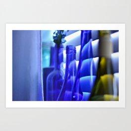 Blue Bottles - 1 Art Print