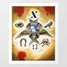X 13 Art Print