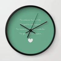 teacher Wall Clocks featuring {Teacher - Inspiration} by tutubi creative