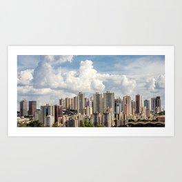 Ribeirão Preto City Skyline Art Print