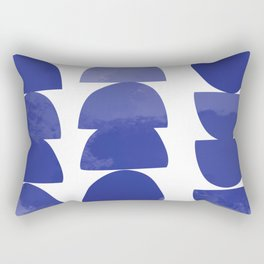 Batique in Blue Violet Rectangular Pillow