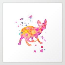Hairless Cat Art Print