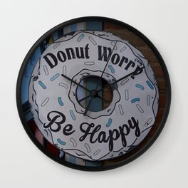 Don't worry be #Happy Wall Clock