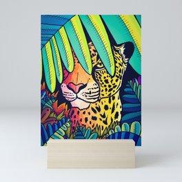Leopard in the jungle Mini Art Print
