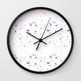 Dandelion Seeds Genderfluid Pride (white background) Wall Clock