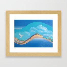 Land To Sea Framed Art Print